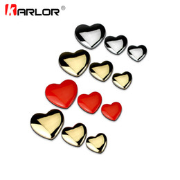 ho cars UK - Exterior Accessories Car Stickers Top Quality DIY Heart Shaped Love 100% 3D Metal Red Gold Silver Ho Car Auto Motorcycle Emblem Badge