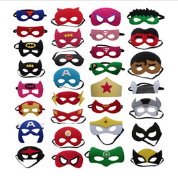 $enCountryForm.capitalKeyWord Australia - Kids Superhero Mask Child Halloween Marvel Masquerade Felt Eye Masks Superhero Cosplay Costume Eyemask Birthday Party Favor
