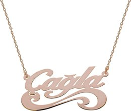 special roses UK - Special Six Patterned your name Chavin Silver Necklace Named Rose Gk011