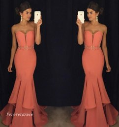 Holiday Evening Gowns Floor Length Australia - 2019 Fashion Mermaid Sweetheart Evening Dress Crystal Sash Floor-length Long Formal Holiday Wear Prom Party Gown Custom Made Plus Size