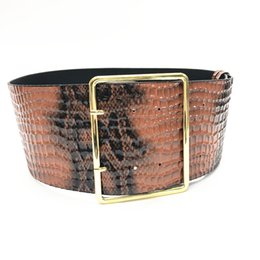 wide leather waist corset belts Canada - New Snake Pattern Belt Waist Belts Fashion Ladies Girdle Wide Leather Buckle Corset Caestus Women Coat Dress Accessories Y200501