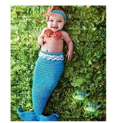 $enCountryForm.capitalKeyWord Australia - Newborn Photography Baby Props Baby Crochet Knitted Mermaid Tail Romper Outfit bebes accesorios recien nacido