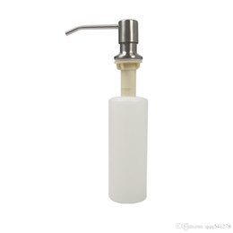Dispenser Kitchen Australia - 350ml big capacity stainless steel soap dispenser brushed kitchen sink liquid soap container rotatable head with ABS bottle