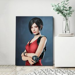 evil figures NZ - Ada Wong Resident Posters And Prints Evil 2 Decorative Wall Art Pictures For Living Room Home Decoration