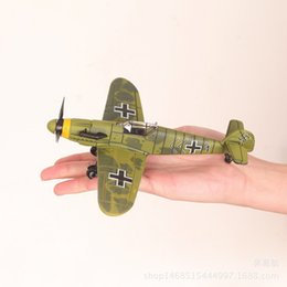 toy world war UK - 4D assembled model aircraft of World War II German military fighter aircraft simulation model bf109 1:49 wholesale