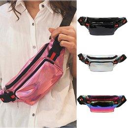 Multi Color Hand Bag Australia - Women's fashion new multi-function color hand bag Female pocket Messenger belt Bag Shoulder Pocket holographic fanny pack