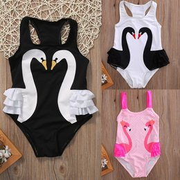 Swimwear Infant Australia - New Toddler Infant Baby Kids Girl Tutu Swimsuit Swimwear Ruffle Bikini Skirt Bathing Suit Children Swan Swimwear 2-7T