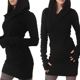 Wholesale hoody lady online – oversize Casual Lady Womens Clothes Spring Fall Hoodies Hoody Bodycon Long Sleeve Sweatshirt Fashion New Mini Dress Brief Fashion S19824