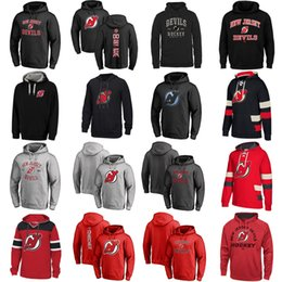 $enCountryForm.capitalKeyWord Australia - Hot Sale Custom Mens Womens Kids New Jersey Devils Cheap Top Quality Embroidery Red Black Grey Ice Hockey Hoodies with Any Name&Any No.