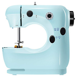 Wholesale foot sewing machine resale online - Mini Beginner Sewing Machine Speed Embroidery Stitching Heavy Duty Quilting Machine Easy To Use Foot Pedal Operation Blue E GPS