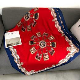 $enCountryForm.capitalKeyWord Australia - 2019 New Silk Scarf Women Belt Bags Printing Foulard Female Fashion Shawls&Wraps Beach Towel Soft Long Scarves Kerchief 180*90cm