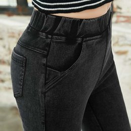 $enCountryForm.capitalKeyWord Australia - lady casual Slim fitted Stretch Denim pant Skinny pocket blue black Jeans ankle Jeggings leggings for women Pencil Pants T190828