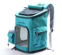 Shoulder Dog Carriers NZ - Pet Dog Carrier Backpack Foldable Mesh Breathable Carrier Outdoor Travel Shoulder Bags for Small Dog Cats Chihuahua Pet Handbag