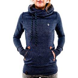 $enCountryForm.capitalKeyWord Australia - Autumn Harajuku Hoodies Women Loose Hooded Scarf Collar Pocket Pullovers Female Long Sleeve Cotton Sweatshirts Plus Size 30** MX190815