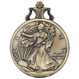 $enCountryForm.capitalKeyWord Australia - Statue of Liberty Commemorative Coin 1 oz Fine Silver One Dollar Coins Collectibles United States of America Quartz Pocket Watch