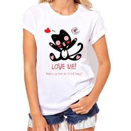 $enCountryForm.capitalKeyWord Australia - Womens Brand Clothing Summer Women T Shirt Short Sleeve O-neck Casual Funny Black Cat Tops Tees Female Ladies T-shirt