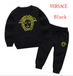 Tutu Sizes For Kids Australia - 2019 NEW Brand VERSACE Style Children's Clothing For And Girls Sports Suit Infant Short Sleeve Clothes Kids Set size 2T-7T