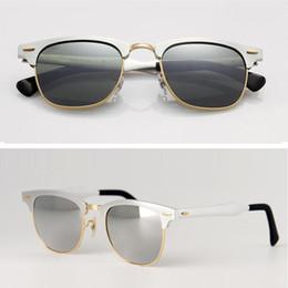 $enCountryForm.capitalKeyWord NZ - Hot Vintage Sunglasses Men Women Brand Designer Aluminum Master Glass Lens Sun Glass Coating Lens Mirror Sunglasses 51mm with Original Case