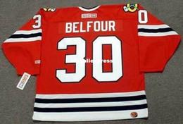 $enCountryForm.capitalKeyWord Australia - custom Mens ED BELFOUR Chicago Blackhawks 1994 CCM Jerseys Away Cheap Retro Hockey Jersey