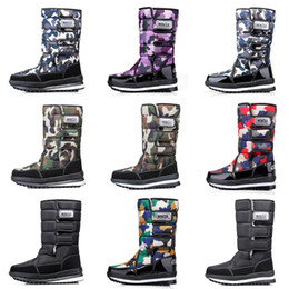 waterproof camo fabric Australia - Fashion Luxury designer women men boots Camo Half Boot mens snow winter boots waterproof platform booties 36-46