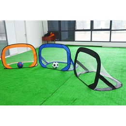 $enCountryForm.capitalKeyWord Australia - Portable Soccer Nets With Carry Bag Folding Football Goal Net Gate Training Sports Game Target Net For Soccer Fans Kids Gifts