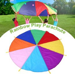 $enCountryForm.capitalKeyWord Australia - 2M Kids Parachute Toy Sport Outdoor Games Gymnastics Toy Child Sport Development Rainbow Umbrella Teamwork Jump-sack Ballute