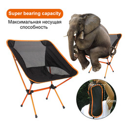 bbq fish tool UK - Portable Ultralight Folding Chair Superhard High Load Aluminium Fishing Camping Beach Chair Hiking Picnic BBQ Seat Outdoor Tools