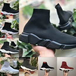 Design bowtie online shopping - 2019 New Walking Speed Mesh Shoes Cheap Trainer Oreo Triple Black White Red Flat Fashion Socks Boot Design Men Women Walking Casual Sneakers