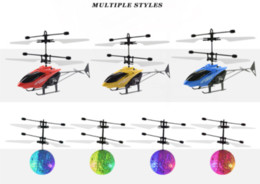 Helicopter instructions online shopping - 20 models RC Drone Flying copter Ball Aircraft Helicopter Led Flashing Light Up Toys Induction Electric Toy sensor Kids Children Christmas
