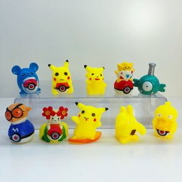 Model Figure Cartoon Girl Australia - 10pcs Set 5-6cm Pikachu Creative PVC Mini Dol Cartoon Model Doll Toys Home Decoration Action Figures Party Cake Girl Children Gift