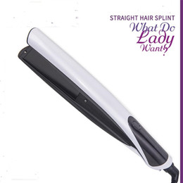 $enCountryForm.capitalKeyWord NZ - 1 Inch Electric Flat Hair Straightener Iron Wand Straighter Ceramic Styler Fringe Curler Salon Styling Silk Straight Clamp Plate