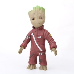 marvel toys wholesale UK - PVC Groot Baby Cute Action Figures Guardians of the Galaxy 2 Figurine Marvel infinity war Model Toy Anime Hero Model Gifts Kids cute Dolls