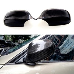 bmw caps Australia - 1 Pair Real Carbon Fiber Rearview Side Mirror Cover Caps for BMW 3 Series E90 E91 2010-2012 Carbon Fiber Side Mirror Cover