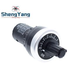 TZT LA42DWQ-22 1K 2K 5K 10K 22mm Diamètre Pots Rotary Potentiometer Converter Gouverneur onduleur Résistance Commutateur en Solde