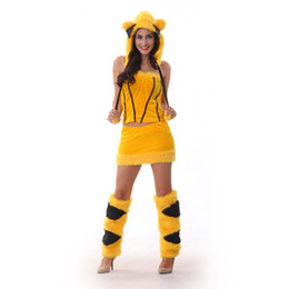 Sexy Lovely Cartoon UK - Japanese cartoon Pikachu role playing suit for ladies role playing suit sexy and lovely dress up suitable for holiday friends playing party