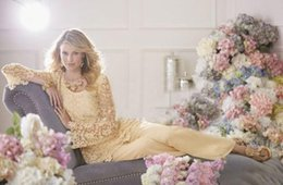 $enCountryForm.capitalKeyWord Australia - Mother of the Bride Dresses Pant Suits Custom Made Vintage Formal Capped with Long Sleeves Chiffon Lace Dresses for Wedding Gowns