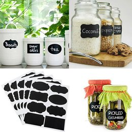 $enCountryForm.capitalKeyWord Australia - 72Pcs Well Made Blackboard Sticker Craft Kitchen Candy Jar Organizer Labels Scrapbook sticker Convenient to Remerber