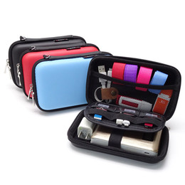 $enCountryForm.capitalKeyWord NZ - Leather Earphone Storage Box Portable USB Cable Organizer Carrying Hard Bag Case for Coin Memory Card