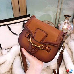 box handbags NZ - 2019 hot sale designer handbags crossbody messenger bags good quality leather bags classical style saddle bag dust bag box