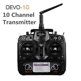 $enCountryForm.capitalKeyWord Australia - Original Walkera Black DEVO 10 2.4G Transmitter 10CH RX1002 Receiver Telemetry RC Transmitter for RC Model Airplane Multicopter