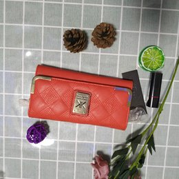 Candy Diamonds NZ - Kardashian Kollection High Grade Women Long Design Day Clutch Womens Wallets and Purses Candy Leather Hand Wallet Lady Red Carteira Feminina