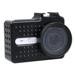 $enCountryForm.capitalKeyWord Australia - Action Camera Aluminum alloy Protective Shockproof Frame Case Shell + UV Protector Lens Cap Cover for Yi 2 4K Accessori