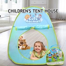 $enCountryForm.capitalKeyWord NZ - Portable Cartoon Play Tent for Children Baby Beach Tent Indoor Outdoor Kids Activity House Teepee Birthday Gift