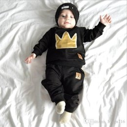 $enCountryForm.capitalKeyWord Australia - New style of children's clothes for foreign trade in the spring and Autumn period of 2019 with long-sleeved crown embroidery for childr