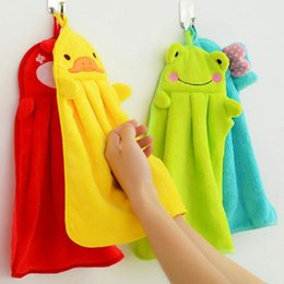 compress cartoon towel Australia - Cartoon Hand Towel For Soft Coral Velvet Home Dish Rag Cloth Kitchen Hanging Cleaning Tools YZ287