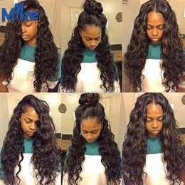 Wavy Human Lace Front Wig Australia - Lace Front Human Hair Wigs Brazilian Malaysian Indian Peruvian Hair Wig MikeHAIR Big Natural Wavy Hair Lace Front Wigs For Black Women