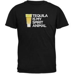 $enCountryForm.capitalKeyWord Australia - Tequila is my Spirit Animal T-Shirt size discout hot new tshirt white black grey red trousers tshirt RETRO VINTAGE Classic t-shirt