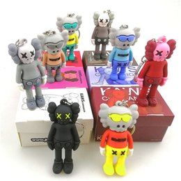 Discount toys trend - KAWS Doll BFF Keychain Stereo 3d Skull Pendant Trend Brian Street Art Action Figure Limited Version Collection Model Toy