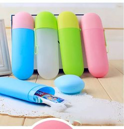 $enCountryForm.capitalKeyWord UK - Solid colors portable travel toothpaste toothbrush holder cap case household storage cup outdoor holder bothroom accessories