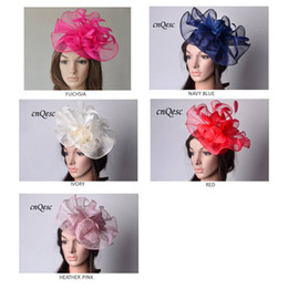 $enCountryForm.capitalKeyWord Canada - Big Sinamay fascinator hat Feather fascinator for Melbourne Cup,Ascot Races,kentucky derby wedding.coral,hot pink,navy blue and cream